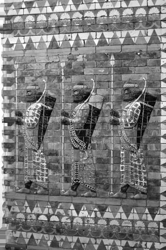 Friz s prikazom vojnika Ninive.