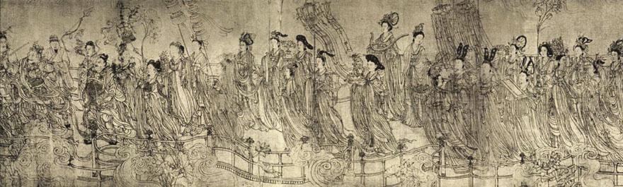 "Detalj murala ""Osamdesetsedam nebeskih ljudi"", Wu Tao Tzu"