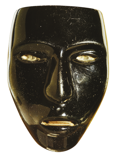 Maska od opsidijana Prikaz boga Ixtiltona koji je prema legendi noću posjećivao djecu i donosio im miran san.