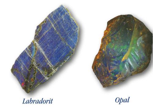 Labradorit i opal