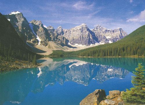 Jezero Glimmering Moraine, Nacionalni park Banff, SAD