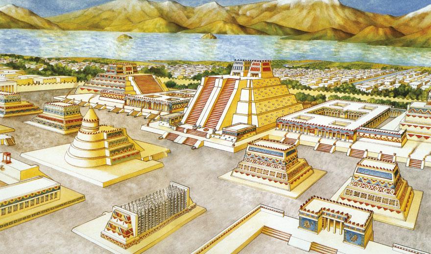 SVAKODNEVNI_Zivot_Crtez Tenochtitlana