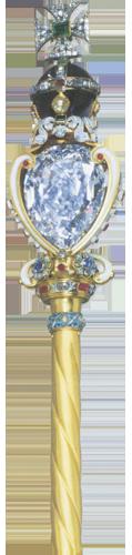 """Dijamant """"Star of Africa"""" (Zvijezda Afrike)  nalazi se  u britanskom kraljevskom žezlu i teži 530,20 karata."""