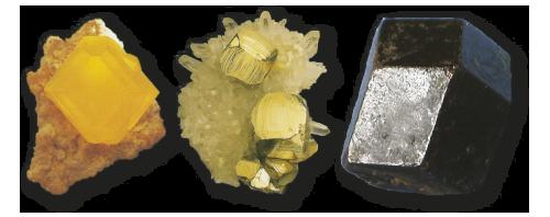 Sumpor, tirolski granat i pirit imaju različite forme.