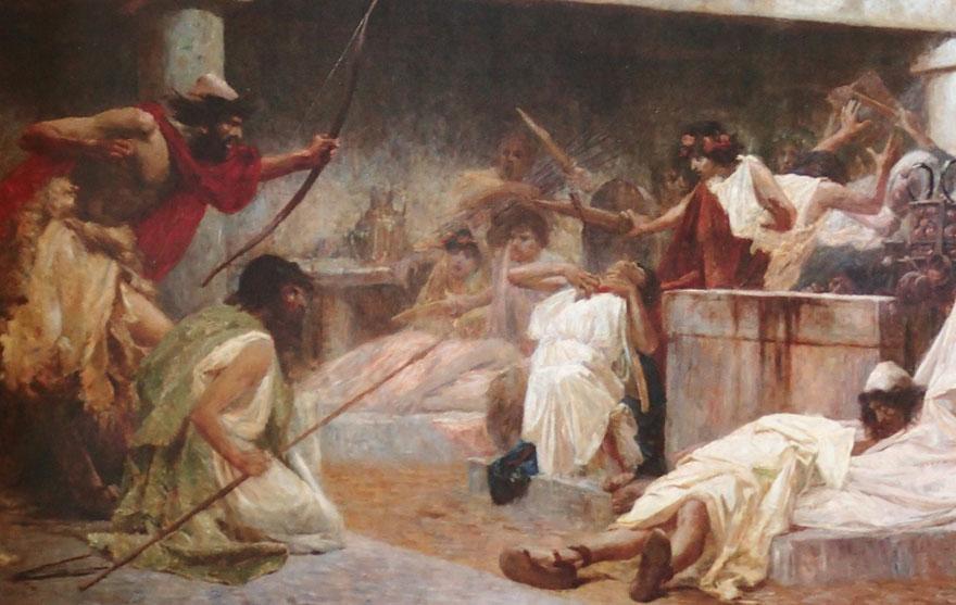 Odisej ubija prosce