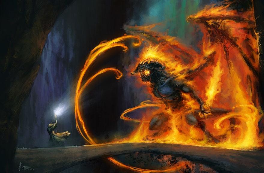 Gandalf i Balrog