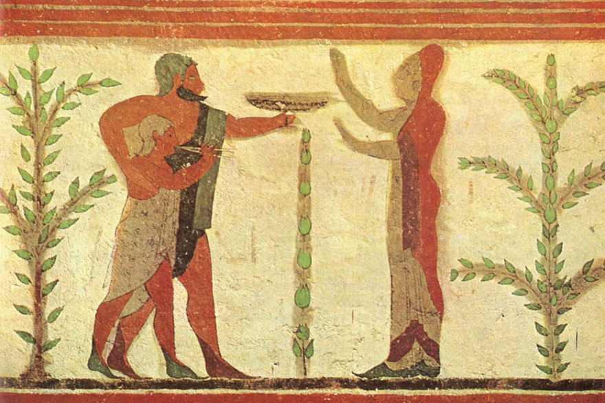 Tarkvinija, detalj freske iz Grobnice baruna