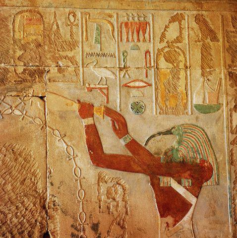 Detalj reljefa boga Thota