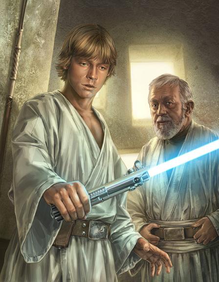 Luke Skywalker dobiva svjetlosni mač