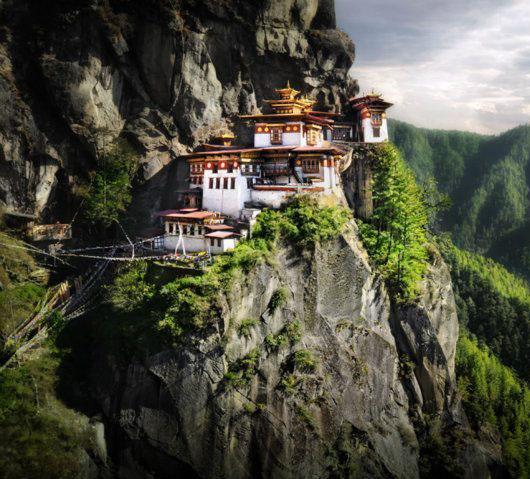 Samostan Tigrovo gnijezdo. Butan, Himalaja, 1692.