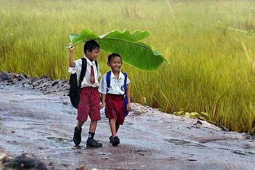 O dobroti i dobroj naravi dječaci na kiši