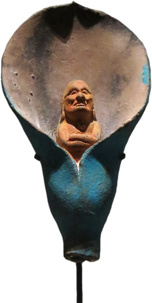 Jaina figurica - čovjek u cvijetu