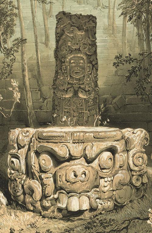 Copan - stela i oltar - detalj
