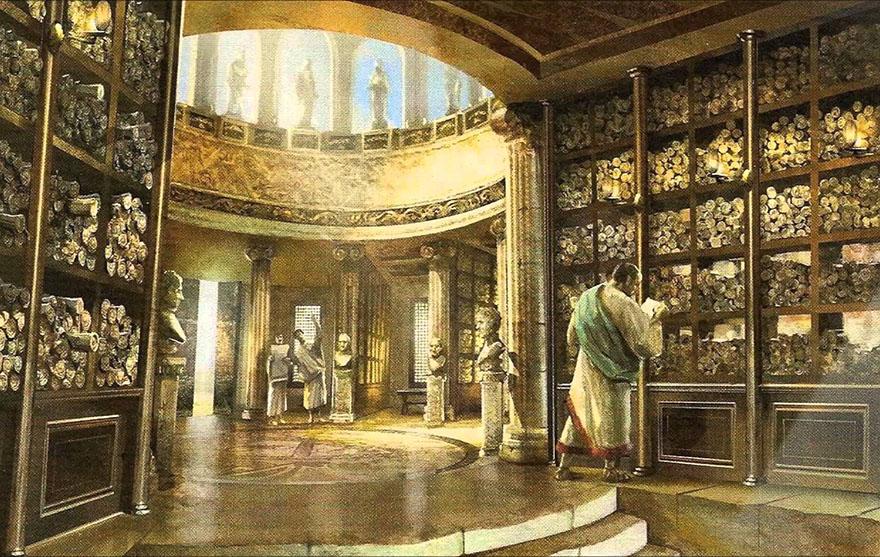 Stare knjižnice - Aleksandrija