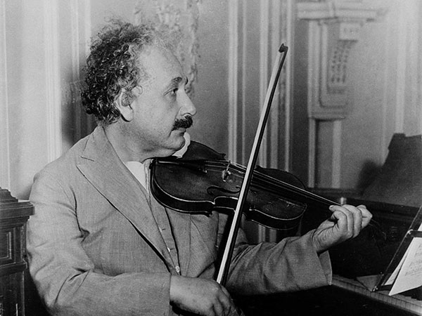 Einstein i violina