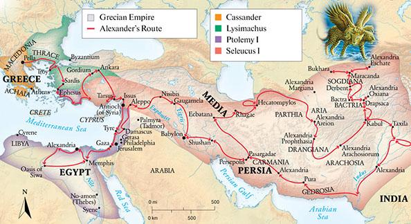 Karta Helenističkog svijeta