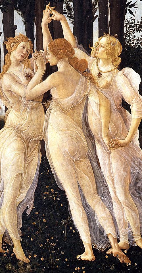 Boticelli - Alegorija proljeća - tri gracije