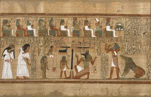 Prikaz vaganja duše na papirusu Ani