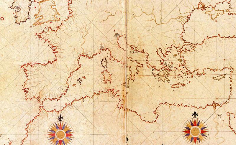 Piri Reis - Karta Europe i Sredozemnog mora