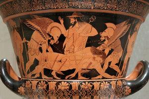 Hipnos i Tanatos odvode Sarpedona
