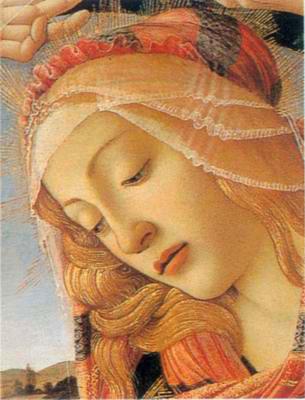 Sandro Botticelli - Veličanstvena Gospa, detalj