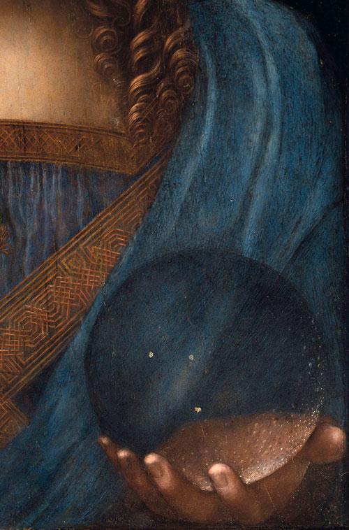 Leonardo da Vinci - Salvator Mundi, detalj