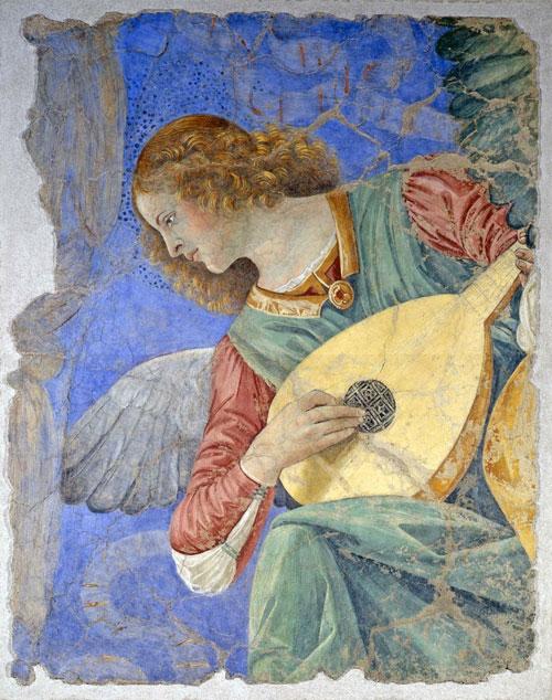 Melozzo da Forli - Anđeo s lutnjom