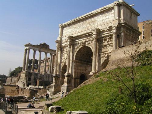 Slavoluk Septimija Severa, Rim