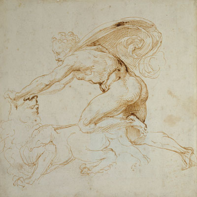 Crtež Herkul se bori s lavom.