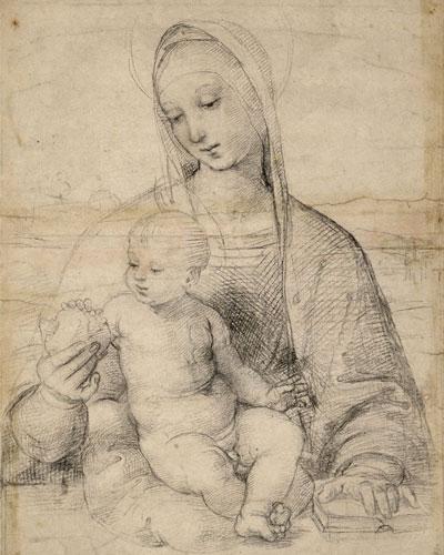 Bogorodica s narom, oko 1504., Muzej Alberina, Beč.