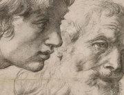 Detalj studije Glava i ruke dvaju apostola, za koju se vjeruje da je nastala samo tjedan ili dva prije Rafaelove smrti 6. travnja 1520.
