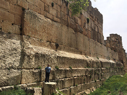 Pogled na Trilithon, Jupiterov hram u Baalbeku