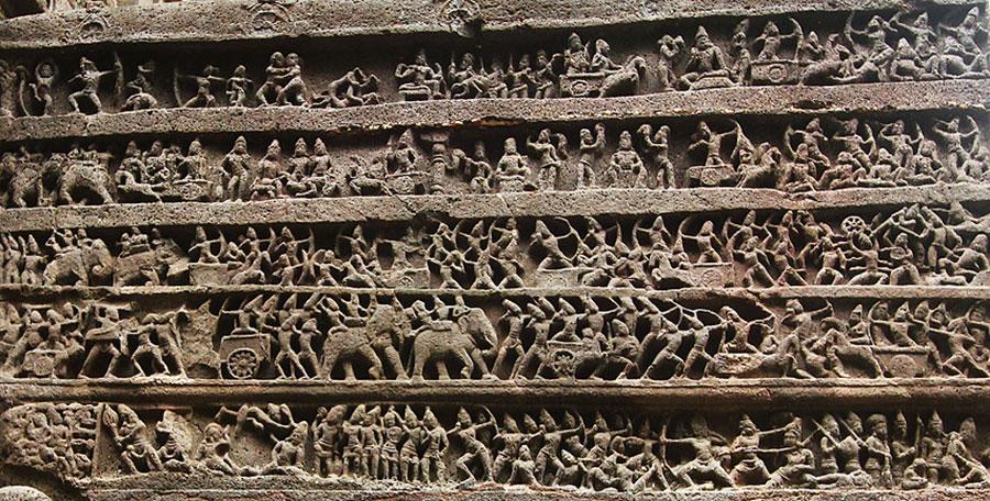Mahabharata-reljef-Kailisanta-Elura