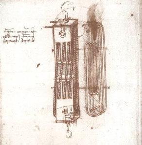 Atlantski kodeks, list 96. Ambrozijanska knjižnica, Milano.