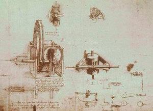 Atlantski kodeks, list 1090. Ambrozijanska knjižnica, Milano.