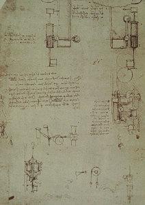 Atlantski kodeks, list 103 a. Ambrozijanska knjižnica, Milano.