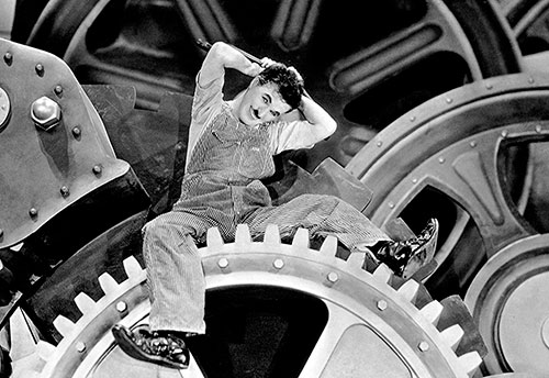 Scena iz filma Moderna vremena Charliea Chaplina