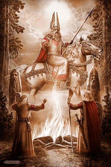Svarog - bog vatre i neba, stvoritelj svega na nebu i zemlji.