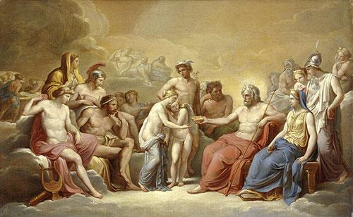 Kupid i Psiha u prisutnosti bogova, Vincenzo Camuccini