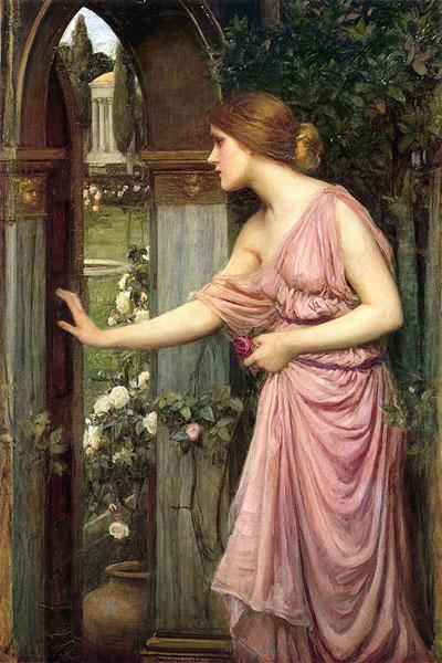 Psiha otvara vrata u Kupidov vrt, John William Waterhouse