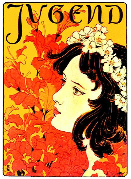 Secesija-otto-eckmann-jugend-naslovnica-1896