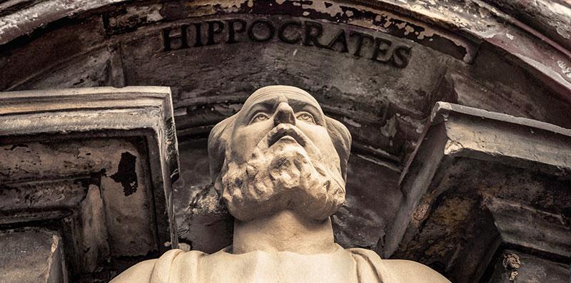 Hipokrat (oko 460. g. pr. Kr. – 380. g. pr. Kr.) - najpoznatiji antički grčki liječnik