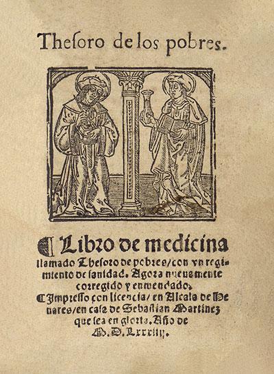 Arnald de Villanova – Knjiga iz medicine, nazvana Bogatstvo siromašnih, izdanje iz 1584. g.